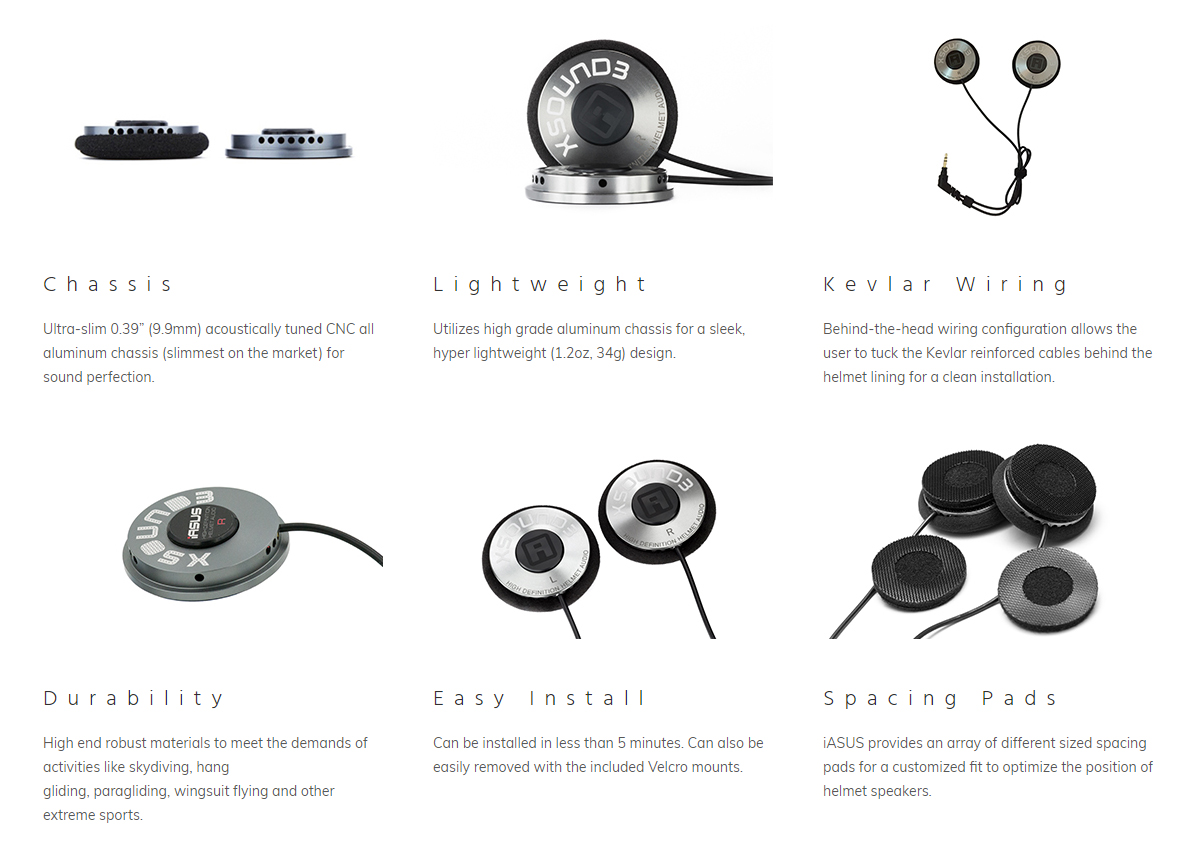 helmet speakers xsound 3 specifications