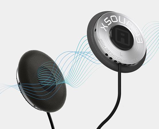 helmet speaker audio waves
