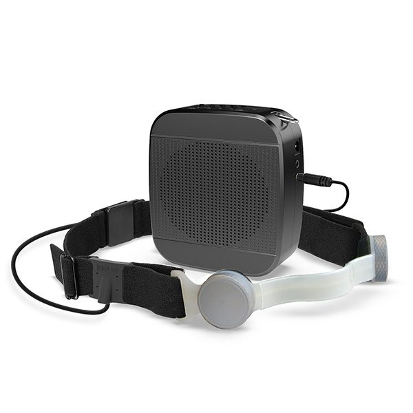 speaker amplifier with headset throat mic