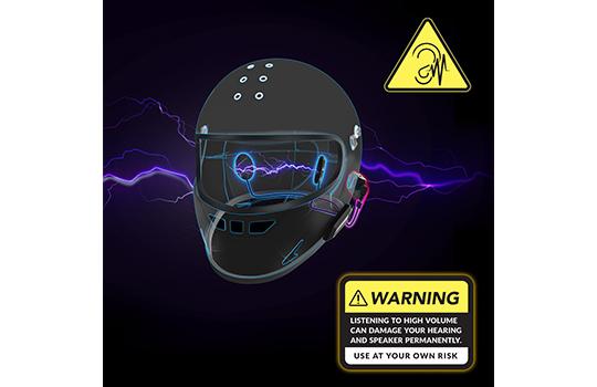 helmet amplifier boost volume