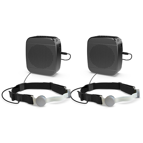 whisper headset with voice amplifier